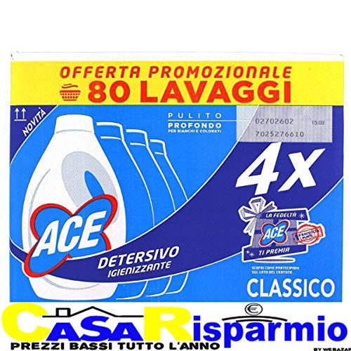 Webazar ACE DETERSIVO BUCATO LAVATRICE LIQUIDO IGIENIZZANTE CLASSICO 4 PEZZI x 25 LAVAGGI