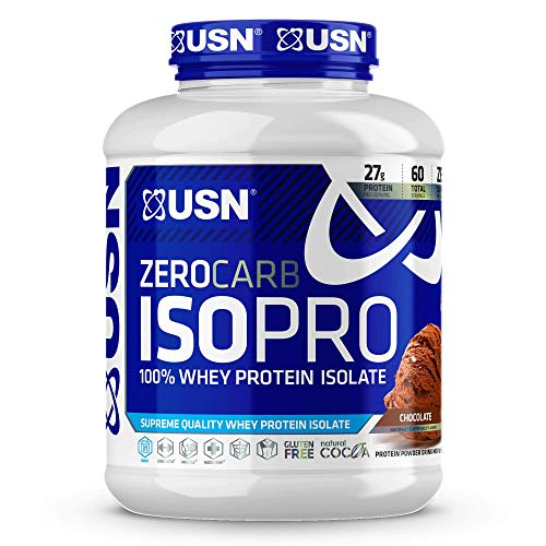 USN Supplements Zero Carb Iso Pro Whey Protein Isolate, Chocolate, 4 Pounds