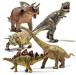 5. Prextex Jumbo Dinosaur Toy Set (5 pieces)