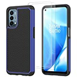 ONOLA Compatible for OnePlus Nord N200 5G Case with [2 Pack] HD Screen Protector Dual Layer Heavy Duty Hard Shockproof Armor Protector Case Cover for OnePlus Nord N200 5G (6.49', 2021) Blue