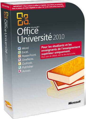 Microsoft Office University 2010 32/64-bit, Service Pack 1, French - Suites de programas (Service Pack 1, French, PC, ENG, Kit de disco, DVD)