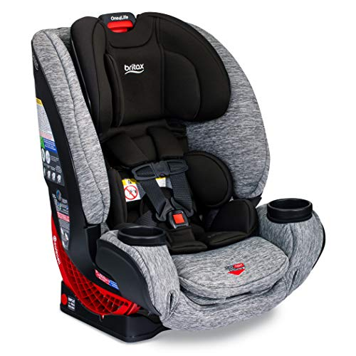Britax One4Life ClickTight All-In-One Car Seat – 10 Years of Use – Infant, Convertible, Booster – 5 to 120 Pounds, Spark Premium Soft Knit Fabric [Amazon Exclusive]