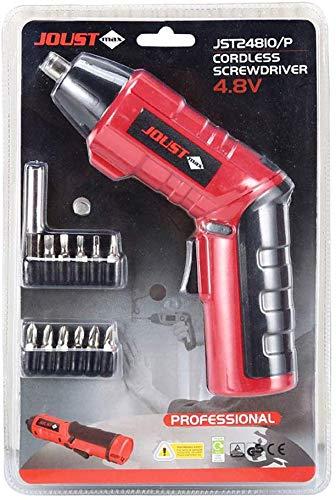 Dmqpp 11-in-1 elektrische schroevendraaier, accu-power-schroevendraaier, oplaadbaar, met lithium-ion-accu en ledverlichting, multifunctioneel draaigereedschap voor het huishouden, grijs