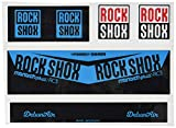 Ecoshirt 8W-YERX-XKMT Pegatina Sticker Shock Rock Shox Monarch Plus Rc3 Am203 Aufkleber Decals Autocollants Amortiguador MTB Downhill, Azul