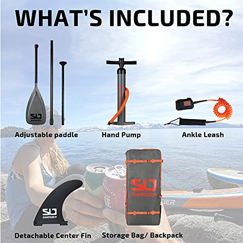 Swonder 11'6 x 32' x 6' Inflatable Stand Up Paddleboard - Ultra-Steady Paddle Board w Non-Slip Deck, 300lb Max Load; Upgraded SUP Accessories- Backpack, Aluminum Paddle, Pump, and Ankle Leash
