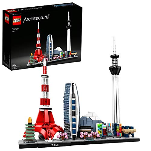LEGO 21051 Architecture Skyline Collection Tokio, Set de Construcción, Modelo de Coleccionista, Maqueta Decorativa