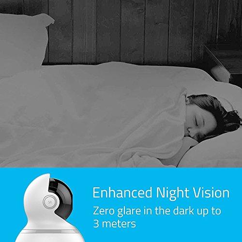 YI Dome Überwachungskamera- IP Kamera Full HD 1080p, Surveillance Home Camera PTZ Pan / Tilt / Zoom, 2 Way Audio, Bewegungserkennung, Nachtsicht, Wifi - Weiß - 6