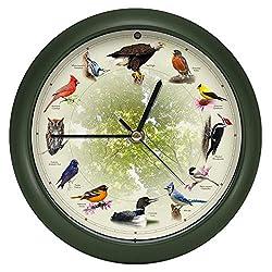 Mark Feldstein & Associates Limited Edition 20th Anniversary Singing Bird Wall/Desk Clock, 8 Inch