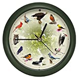 Mark Feldstein & Associates Limited Edition 20th Anniversary Singing Bird Wall/Desk Clock, 8 Inch