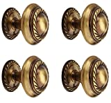 Handcrafted Georgian Antique Brass Knob 32mm. 100% Made in India product helping to achieve an 'Atam-Nirbhar-Bharat' Material: Solid Brass. High-end International Quality products. Durable Metal finish. Rust Free, Long Lasting Hardware. We Sell Only ...