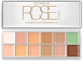 12 Color Professional Cream Contour, Highlighting Concealer Makeup Kit 3 in 1 - Contouring Foundation/Concealer Palette - Vegan, Cruelty Free & Hypoallergenic