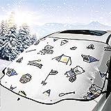Hiram Cotton Car Sunshade Osos Parabrisas del Coche Cubierta De Protección Solar Frente Agua Luz...