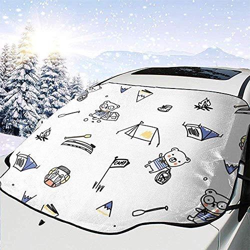 Hiram Cotton Car Sunshade Osos Parabrisas del Coche Cubierta De Protección Solar Frente Agua Luz del Sol Cubierta De Nieve