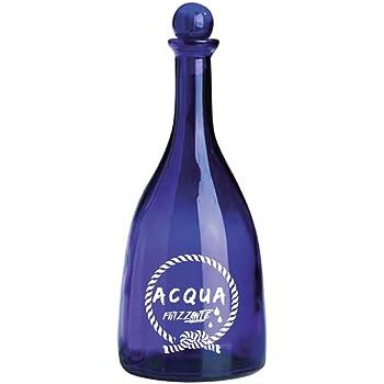 Bottiglia di Design Bottiglie in Vetro per Acqua microfiltrata BrandPrint Bottiglia in Vetro per Acqua Modello Viola 750 ml con Tappo a Sfera serigrafata Naturale Bottiglie per ristoranti