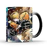 Horypt - Tazzina da caffè con tueur de Demons, tazza magica da tueur de Demone, cambia colore Kamado Nezuko – 8,2 x 9,6 cm