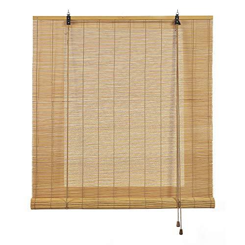 STORESDECO Estor de bambú, Estor Enrollable de bambú Natural, persiana de bambú para Interior. (150 cm x 175 cm, Marrón Claro)