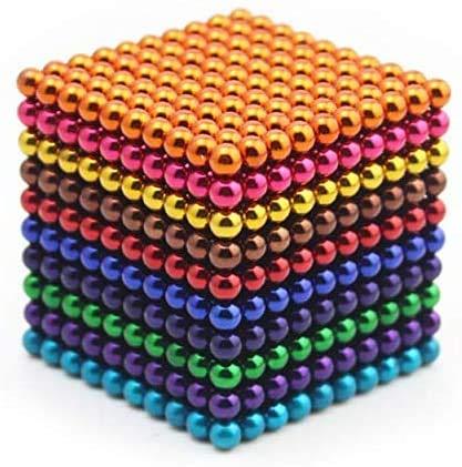 CYKJ 5 Mm Perlas Magnéticas 1000Pcs 8 Regalo Coloreado 3D Juguetes Magnéticos Adultos Puzzle