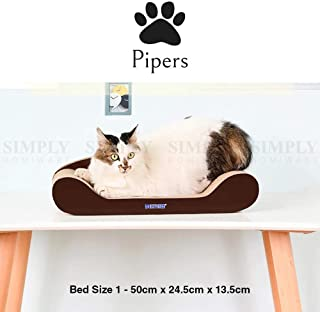 Pipers Cat Scratcher Cardboard Bed Lounge Sofa Pet House Post Board Small Large