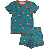 Maxomorra Schlafanzug Pyjama Set Kurz Crab 110/116