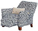 Great Bay Home Velvet Plush Stretch Recliner Slipcover. Velvet Recliner Furniture Protector, Soft Anti-Slip, High Stretch (Recliner, Dark Denim Blue - Snowflake)