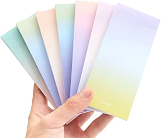 Frjjthchy 6 Pcs Gradient Colors Memo Pad Paper Extreme Notes Easy Post for Office School Restaurant(Random Color)