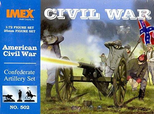 IMEX 502 1:72 American Civil War Confederate Artillery Set Plastic Figure Kit