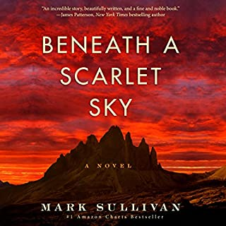 Beneath a Scarlet Sky audiobook cover art