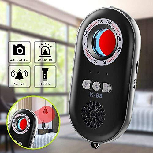 DishyKooker Anti-Spy-Kamera-Detektor Tragbare Infrarot-Alarmanlage 3-in-1-Funktion Notfall-Alarm mit Mini-LED-Taschenlampe