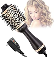 Hot Air Brush,4 in 1 Hair Dryer Brush ,One Step Hair Dryer Suitable for Straight and Curly Hair,Ceramic Coating Achieve Salon Styling at Home 1200W ?Golden?