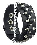 SaySure - Punk Unique Bullet Shape Chain Link Rock Cool Cuff Leather -