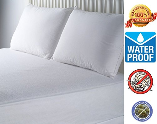 Rohi Hypoallergenic Waterproof Ultra Soft BedBug Mattress Cover Protector (King 150x200cm)