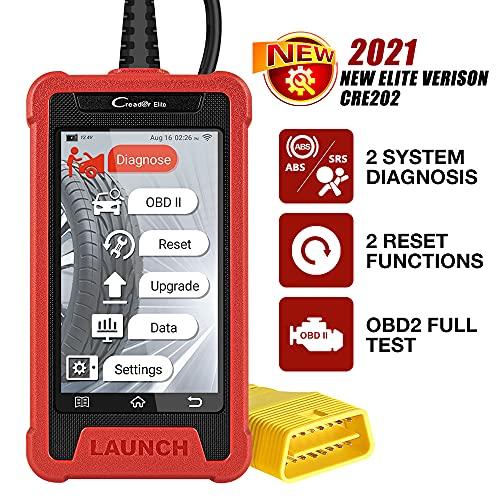 LAUNCH CRE202 obd2 Diagnosegerät Auto Auslesegerät Kfz-Diagnose EOBD Tester 2 Systemen ABS, SRS, Universal Automotor Diagnose Scan Werkzeug, mit 2 optionale kostenlose Sonderfunktionen