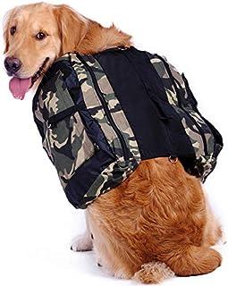 comprar comparacion Hengu Mochila para Perro con Grandes Bolsillos, Alforja Bolsa de Hombro Ajustable para Perros Grandes Al Aire Libre Viajar...