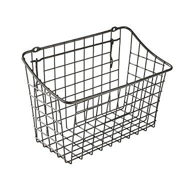 Spectrum Diversified Pegboard & Wall Mount Storage Basket, 10  x 5  x 7 , Industrial Gray