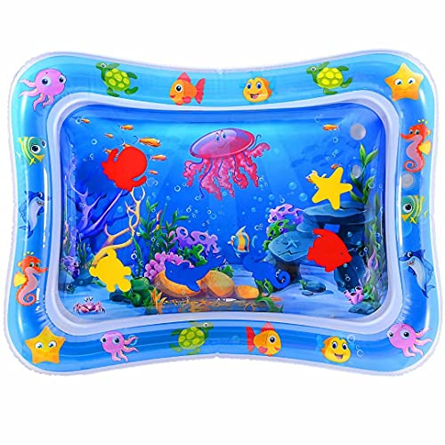 MAGIFIRE Tummy Time Baby Water Mat Infant Toy Inflatable Play Mat for...