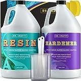 DR CRAFTY Clear Epoxy Resin Crystal Clear Art Resin Epoxy Clear 2 Part Epoxy...