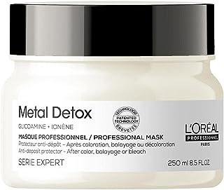 L'Oréal Professionnel Paris | Maschera professionale per capelli colorati Metal Detox Serie Expert, Formula anti-metallo, ...