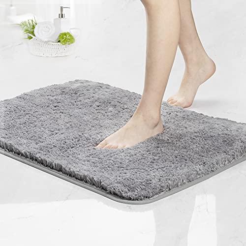 Tappeto da bagno, lavabile, antiscivolo, 70 x 120 cm, per cucina e bagno, ad asciugatura rapida, colore: grigio