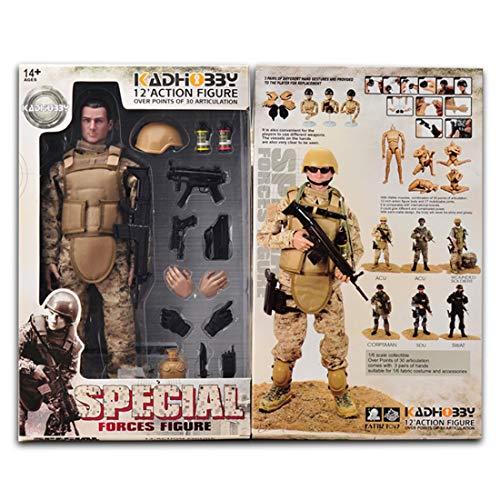 GODNECE Soldat Figuren Beweglich, 1/6 Figur Actionfiguren 30cm Soldat Action Figur Militär Mit Militär Waffen Spielzeug (Navy Seal)