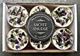 New Moon Beginnings Sacred Smudge Candle Crystal & Herb Candles - Energy clearing - All Natural Soy Candle - Lavender Sage Cedar
