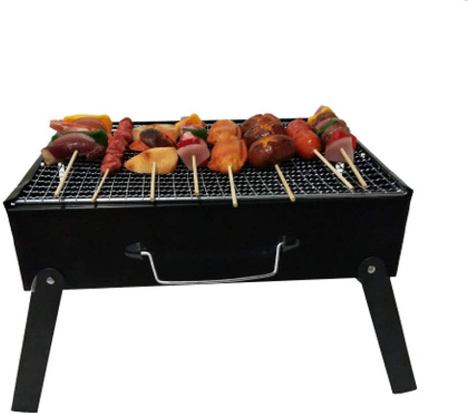 BBQ Supplies Barbecue Easy Barbecues Set Outdoor BBQ 3-4 Charcoal Grill Foldable Grill Portable Square Grill