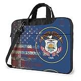 Bandera Americana Retro del Estado de Utah Bolso para computadora portátil Bolso de Hombro Bolso para computadora Bolso de maletín Bolso de Hombro Inclinado