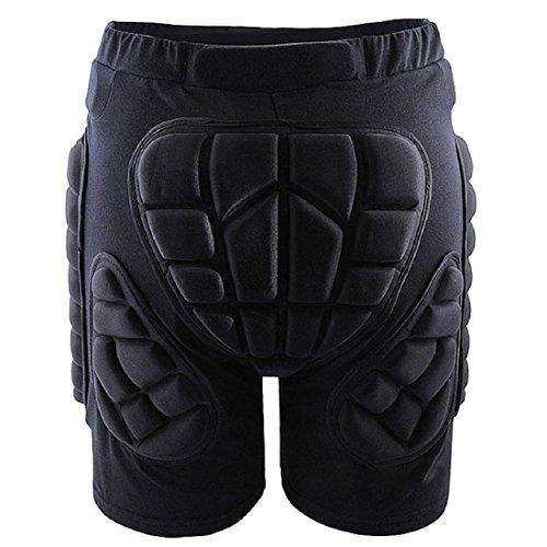 TOOGOO(R) equipement de Plein air Shorts de Protection de la Hanche Skating Snowboard Pants, Black L