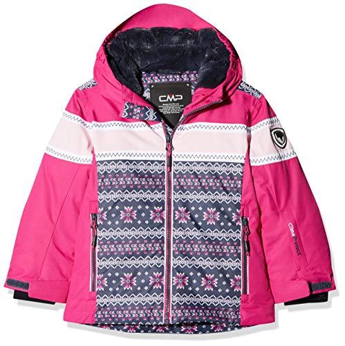 CMP Mädchen Wattierte 5000 Twill Skijacke Jacke, Asphalt-Strawberry, 152