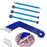 Zaky 4 herramientas para juntas de baldosas, 1 raspador de juntas con 1 hoja de diamante p...