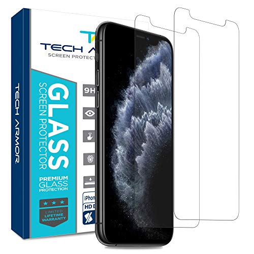 Tech Armor Ballistic Glass Screen Protector for New Apple iPhone 11 Pro/iPhone Xs/iPhone X - Case-Friendly Tempered Glass, 3D Touch Accurate Designed for 2019 Apple iPhone 11 Pro [2-Pack]