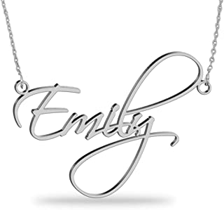 Joelle Custom Name Necklace 18K Gold Plated Sterling Silver Personalized Script Nameplate Jewelry Gift for Women