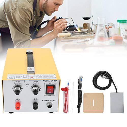 30A Jewelry Spot Welding Machine, Gold Silver DIY Spot Welder, Jewelry Processing Machine Professional Jewelry Tool(UK)