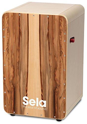 Sela Casela Pro Satin Nut SE 010 Cajon con Meccanismo on/off, Pronto all'Uso