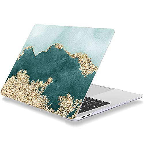 Laptop Case for Macbook Pro 15 Inch 2015 2014 2013 2012 Release A1398 Plastic Hard Shell Cover Compatible with MacBook Pro 15' with Retina Display NO CD Drive Color Blocking (Light Cyan/Bluish/Gold)